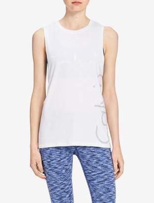 Calvin Klein drop arm logo tank top