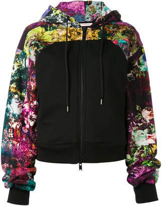 A.F.Vandevorst print panel zip hoodie