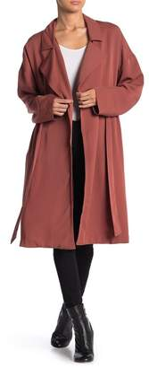 ASTR the Label Solid Midi Trench Coat