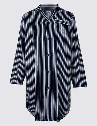 Marks and Spencer Pure Cotton Striped Nightshirt