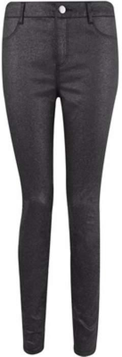 Womens Black Glitter Frankie Jeans