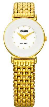 Jowissa Women's J3.020.S Elegance 24 mm Gold PVD Dial Steel Watch