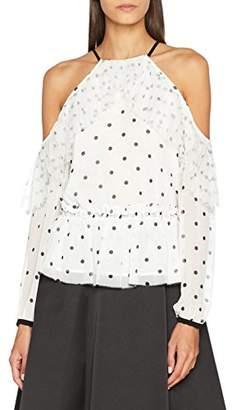 80c29e745 Coast Women's Jemima Slim Fit Polka Dot Long Sleeve Long Sleeve Top