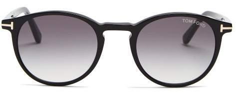 2e9ef8342d Tom Ford Eyewear - Eric Round Frame Sunglasses - Mens - Black
