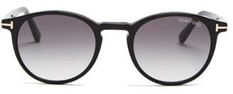 Tom Ford Eric Round Frame Sunglasses - Mens - Black