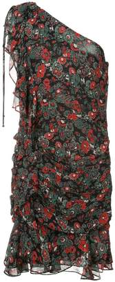 Veronica Beard floral print one shoulder dress