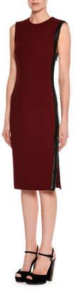 Tom Ford Sleeveless Zip-Trim Sheath Dress