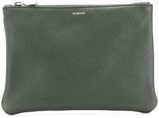 Jil Sander logo clutch bag