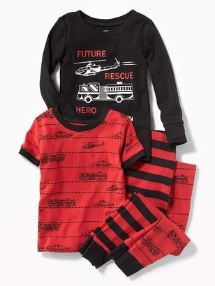 "Old Navy ""Future Rescue Hero"" 4-Piece Sleep Set for Toddler & Baby"