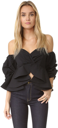 ONE by STYLEKEEPERS Reveal & Conceal Off Shoulder Top $98 thestylecure.com