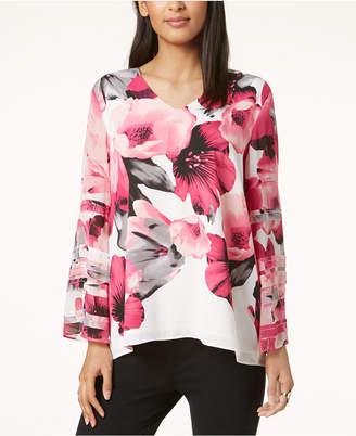 Alfani Layered-Sleeve Top, Created for Macy's
