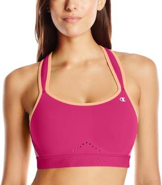 Champion Women's Warrior Sports Bra, Berry Delight/Berry Delight Heather/Deep Sea Coral