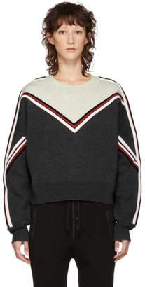 Etoile Isabel Marant Grey and White Kimo Crewneck Sweater