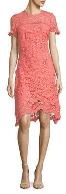 Shoshanna Short-Sleeve Lace Dress