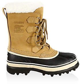 Sorel Women's Caribou Leather& Faux Fur Lace-Up Boots