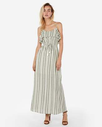 44fa5d860c5f3 Express Striped Drawstring Maxi Dress