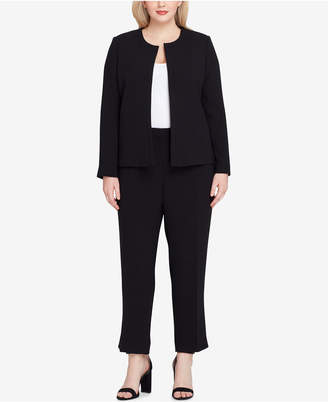 Tahari ASL Plus Size Laced-Back Pantsuit