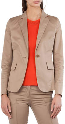 Akris Punto Stretch-Cotton One-Button Jacket
