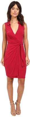 Christin Michaels Gracy Sleeveless Wrap Dress with Collar $74 thestylecure.com