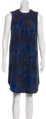Rachel Comey Printed Sleeveless Knee-Length Dress