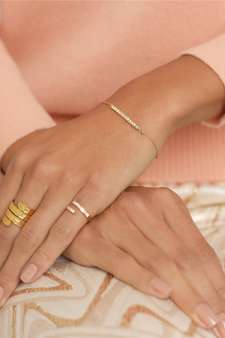 Halleh 18-karat gold diamond bracelet