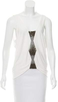 Ramy Brook Embellished Sleeveless Top w/ Tags