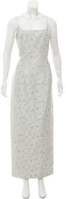 Carmen Marc Valvo Embellished Sleeveless Gown