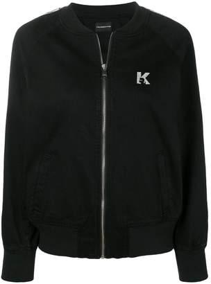 Karl Lagerfeld Paris Sporty Bomber Logo Jacket