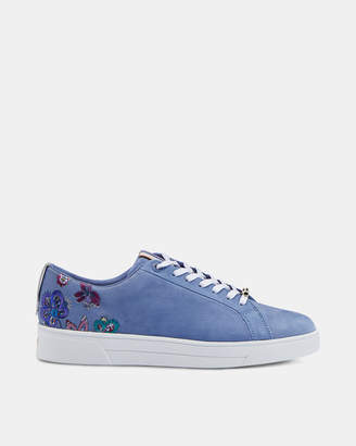 Ted Baker ERITKAN Suede embroidered trainers