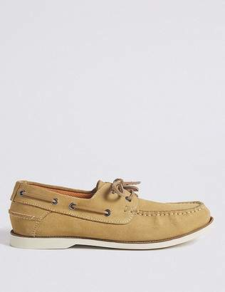 Marks and Spencer Suede Lace-up Boat Shoes with FreshfeetTM