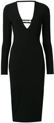 Alexander Wang fitted V-neck dress