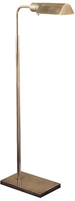 Visual Comfort & Co. Swing-Arm Floor Lamp - Antiqued Nickel