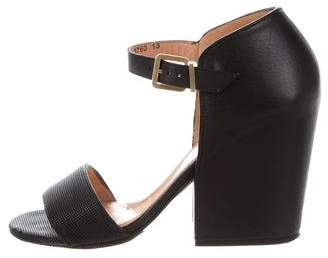 Robert Clergerie Leather Ankle-Strap Sandals