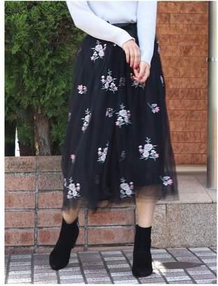 dazzlin (ダズリン) - dazzlin 2WAYフラワー刺繍チュールスカート