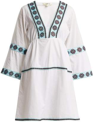 DAFT Istanbul geometric-pattern web dress