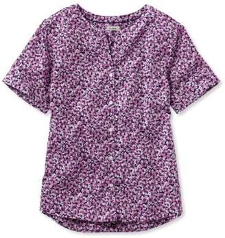 L.L. Bean L.L.Bean Easy Cotton Shirt, Floral