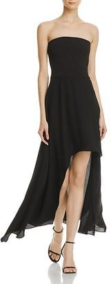 AQUA Strapless High/Low Maxi Dress - 100% Exclusive $88 thestylecure.com