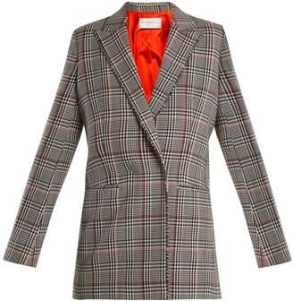 Amanda Wakeley Prince of Wales-check stretch-wool jacket
