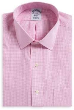 Brooks Brothers Gingham Print Regent Fit Dress Shirt