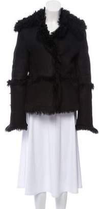 Gucci Collared Shearling Jacket