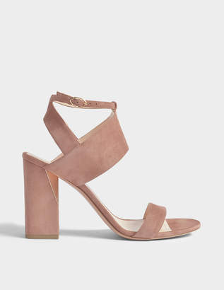 Nicholas Kirkwood 90mm Eva Sandals in Rosewood Suede