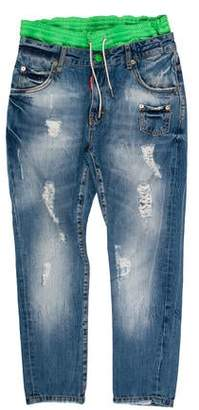 DSQUARED2 Distressed Layered Jeans