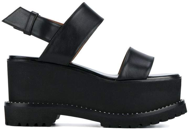 Givenchy Black Leather 90 platform sandals