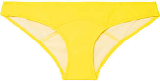 Lisa Marie Fernandez Arden Stretch-crepe Bikini Briefs - Bright yellow