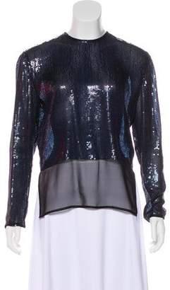 Calvin Klein Collection Sequined Silk Top