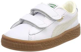 Puma Kids' Basket Classic Gum Deluxe V Inf Trainers, White
