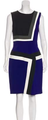 J. Mendel Colorblock Sleeveless Dress