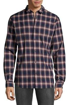 Selected Plaid Button-Down Shirt