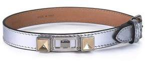 Proenza Schouler Metallic Leather Silver And Gold-Tone Bracelet