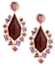 Stephen Webster Gold Struck Garnet, Ruby & Amethyst Drop Earrings